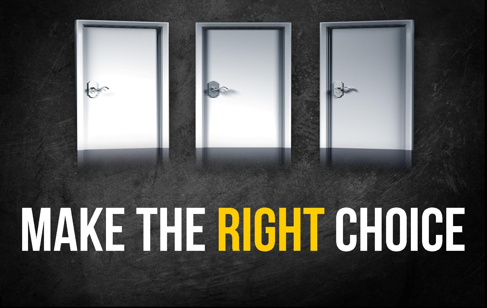 "Introducing Our Fall Series: ""Make The Right Choice""  The"